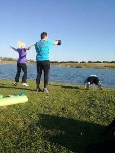 Træning ved Davinde Sø